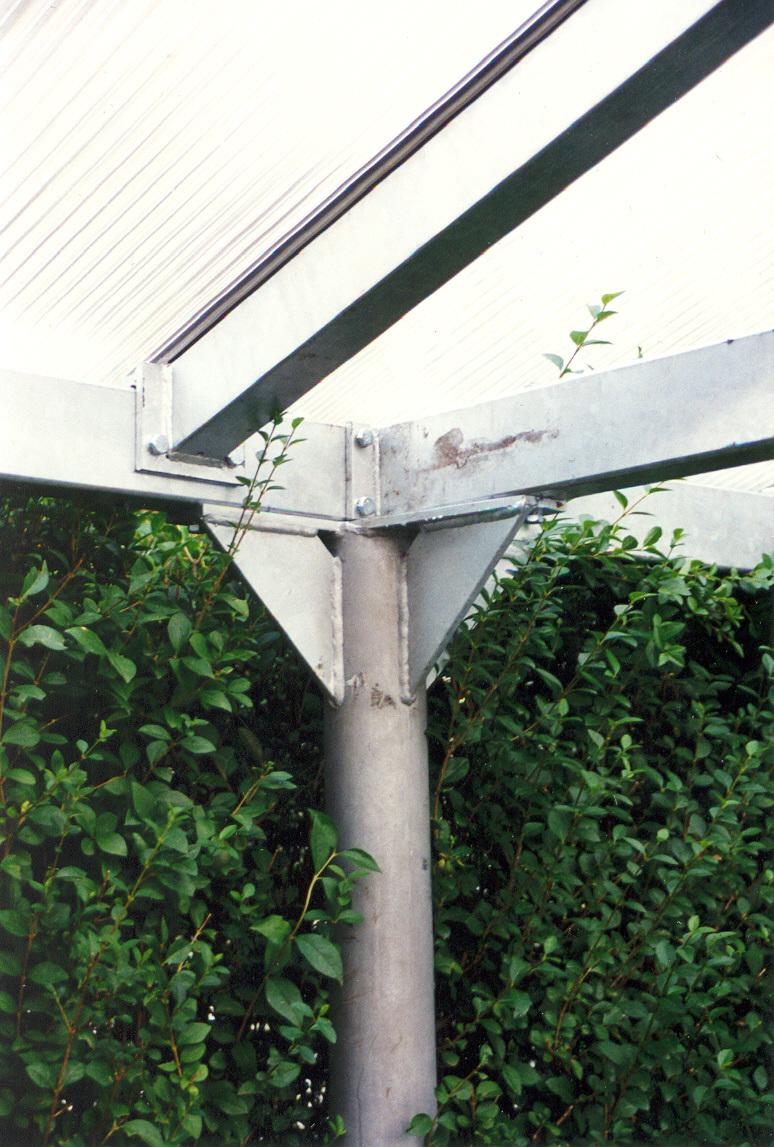 carport aus stahl verzinkt mit hohlkammerplattendach